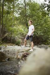 Teenage boy in a park