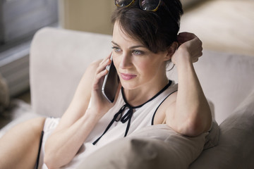 Beautiful woman talking on a mobile phone