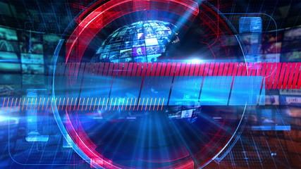 Blank News - Broadcast Graphics Title Animation 4K