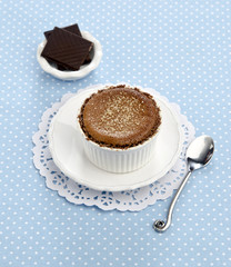 Creme brulee with chocolate