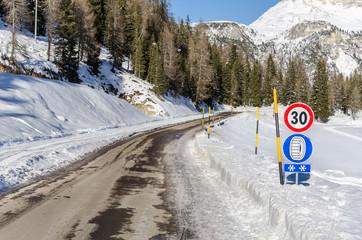 Treacherous Frozen Mountain Road