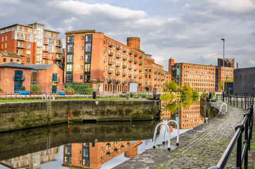 Renovated Old Warehouses on a River