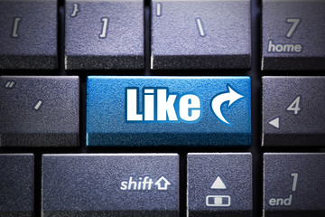 Like button on the computer keyboard