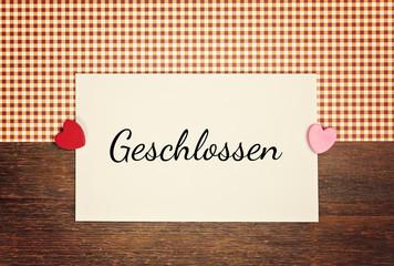 greeting card - geschlossen, closed
