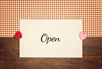 greeting card - open