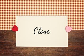 greeting card - close
