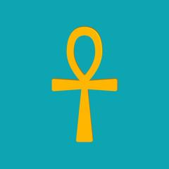 Ankh Hieroglyph, or key of life, key of Nile, Crux Ansata.