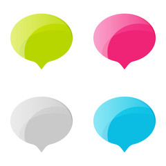 Chat sign icon. Speech talk bubble symbols. Chat bubbles