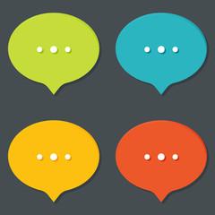 Chat sign icon. Speech talk bubble symbols. Chat bubbles