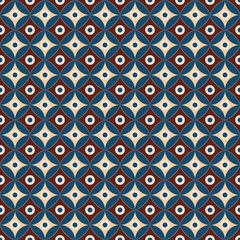 Seamless geometric pattern of circles. Egypt style.