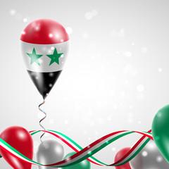 Flag of Syria on balloon