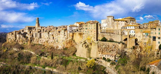 amazing Italy series - panorama of Pitigliano, Tuscany