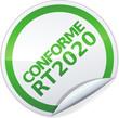 Sticker conforme RT 2020 (détouré)