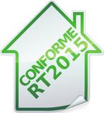 Sticker des bâtiments conforme RT 2015 (détouré) poster