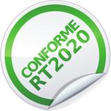 Sticker conforme RT 2020 (détouré) poster