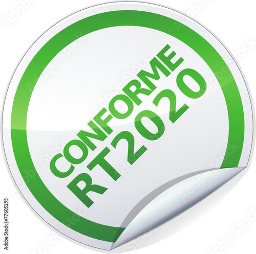 poster of Sticker conforme RT 2020 (détouré)
