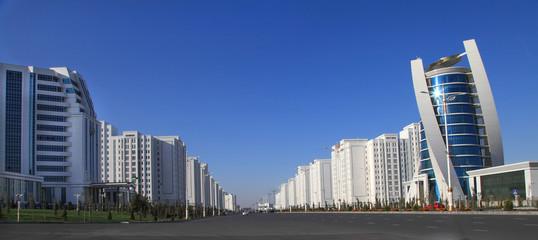 Ashgabat, Turkmenistan. Modern architecture building