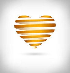 Golden Spiral heart on grayscale background