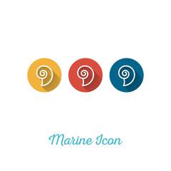 Seashell Marine Flat Icon