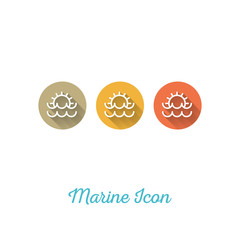 Sunset Marine Flat Icon