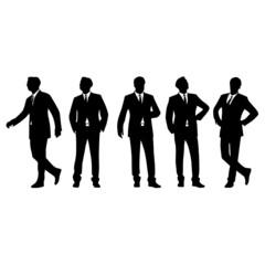 Businessman posing vector illustration