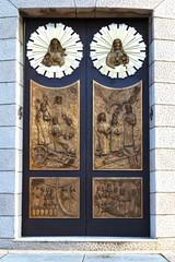 church door     lombardy  madonna