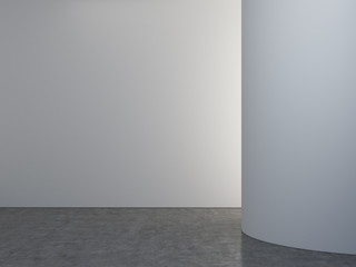 room with gray wall
