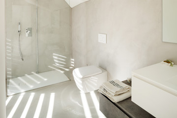 interior of a modern house, bathroom