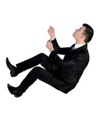Business man climb up