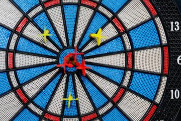 Good Shot of Darts at Target
