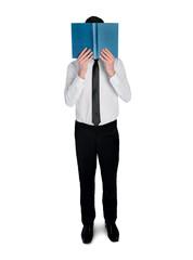 Business man read book