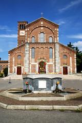 in  the legnano   old   church  closed brick tower sidewalk ital