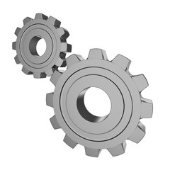 Gear 3d. Isolated on white background