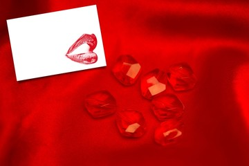Composite image of rubies