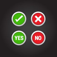 Yes/No Buttons