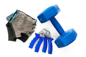 Federhandgriffe, Hantel und Handschuhe