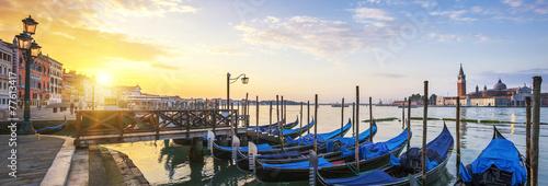 Canvas Venetie Panoramic surise, Venice.