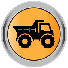 Dump, truck, construction, machinery, equipment, icon