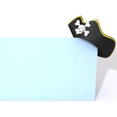 Pirate hat 3d illustration