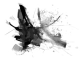 Fototapety Abstract ink paint vector background