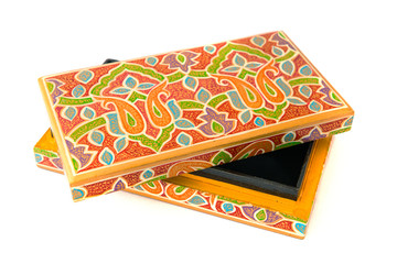 indian lacquered rectangular box for jewel