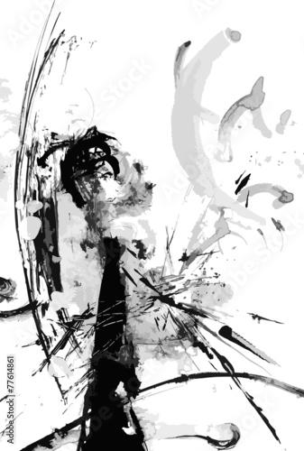 Zdjęcia na płótnie, fototapety, obrazy : Abstract ink paint vector background