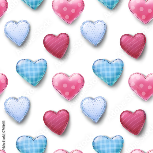 seamless pattern with hearts - 77616614