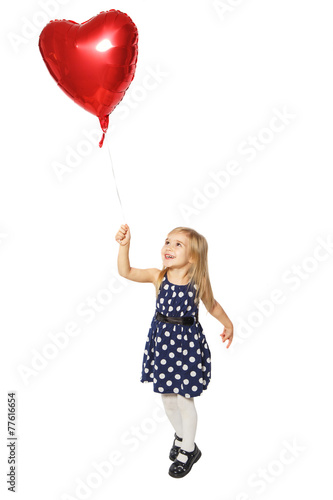 Poster Balloon heart in a small hand