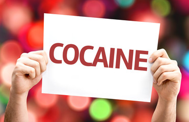 Cocaine card with colorful background