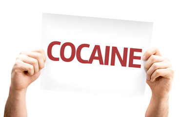 Cocaine card isolated on white background