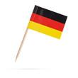 Leinwanddruck Bild - Miniature Flag Germany. Isolated on white background