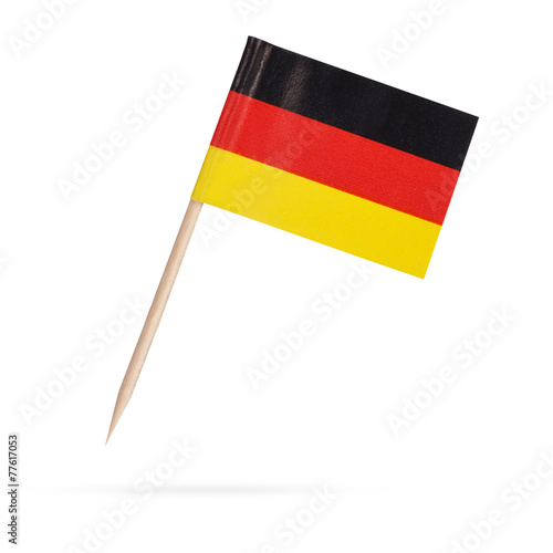 Fotobehang Noord Europa Miniature Flag Germany. Isolated on white background