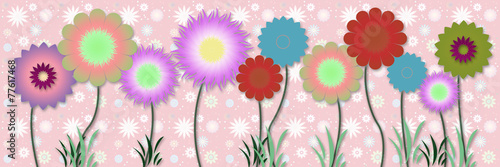 Obraz Beautiful floral spring design