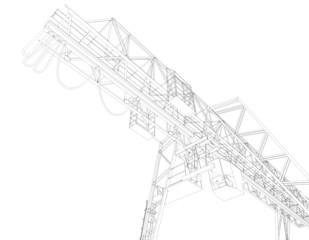 Gantry bridge crane, part
